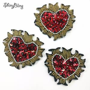ShinyBling 3D Sew on sequin patch for clothing Applique 9c567793716a