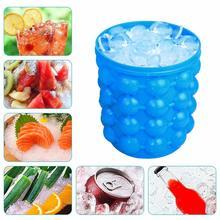Силиконовые лотки для льда, формы для льда, ведро для льда, экономия пространства, ледяной шар, портативный силиконовый кубик для льда