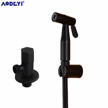 Handheld Bidet Spray Black hand bidet sprayer Shower Set Toilet Shattaf Sprayer Douche kit Bidet Faucet, 304 Stainless Steel thermostatic handheld toilet bidet faucet hygiene personal cleaning shattaf sprayer douche kit luxurious bathroom shower head