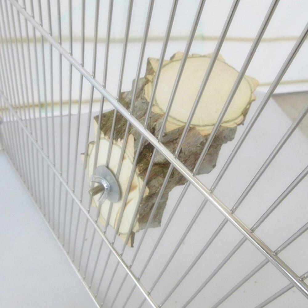 Попугай Птица Игрушки Стенд прыжки доски платформы Шиншилла белка перец журнала Pier Угловые Совета клетка аксессуары