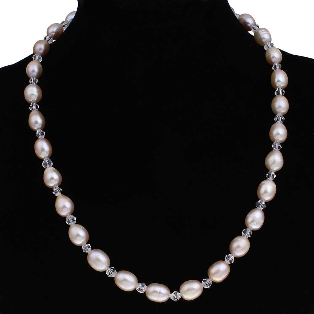natural freshwater pearl necklace women jewelry wedding. Black Bedroom Furniture Sets. Home Design Ideas