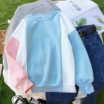 Harajuku Women Pink Hoodies Japanese Style Hooded Sweatshirt 2018 New Cute Fleece Warm Winter Sweatshirts Pullovers Moletom Bts