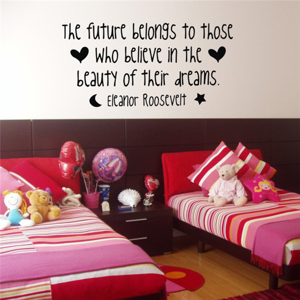 Future Belongs To Funny Vinyl Wall Quotes Removable Stickers Home Decor Big  Wall Stickers For Bedroom Living Room Decoration In Wall Stickers From Home  ...