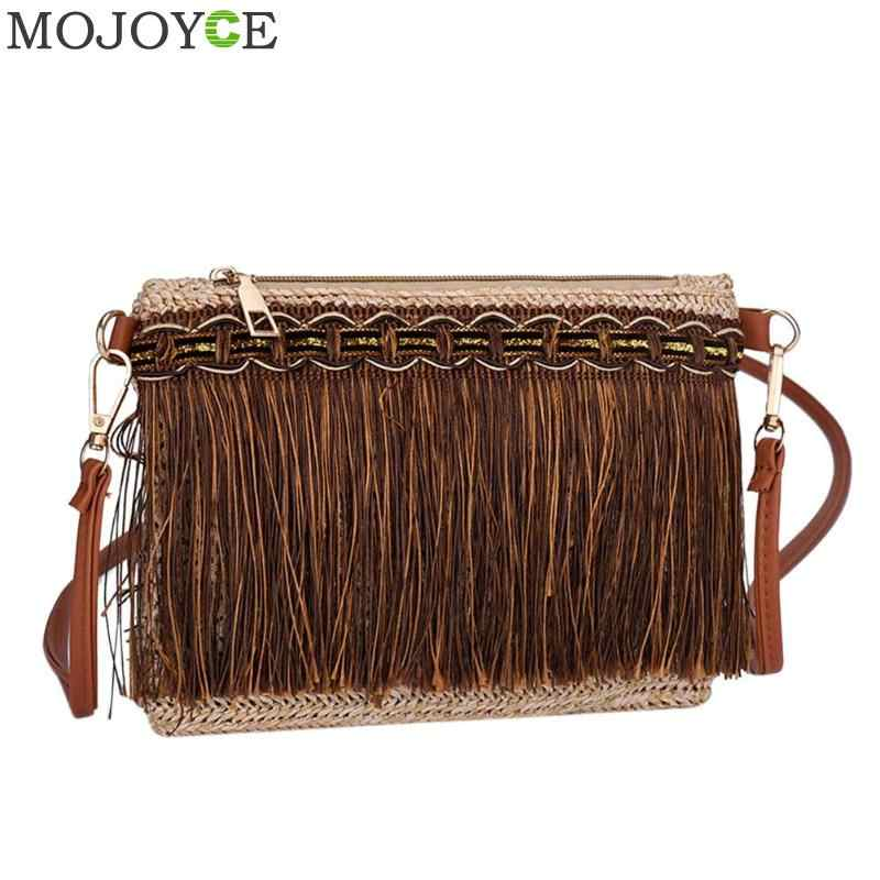 f0a3af8bf7 Detail Feedback Questions about 2018 Bag Women s Weave Tassel ...