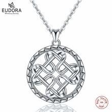 Женское ожерелье из серебра 925 пробы с подвеской 18 дюймов