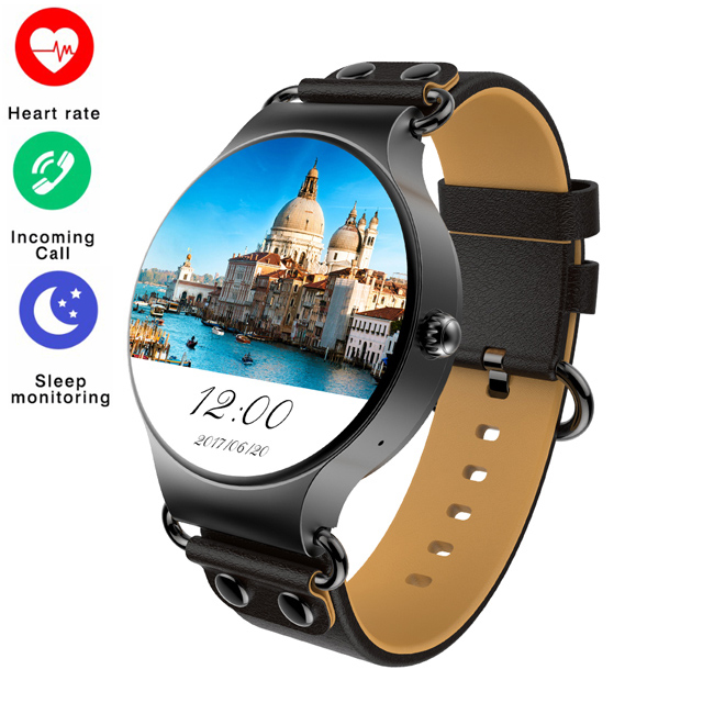 KW98 Smart watch 3G WIFI GPS SIM Card Android 5.1OS Wristwatch Heart Rate Monitor Pedometer for iOS Android Phone PK KW88 KW99 gps smart watch men android 5 1 os smartwatch altitude sim 3g wifi heart rate monitor camera ip68 waterproof sports wristwatch