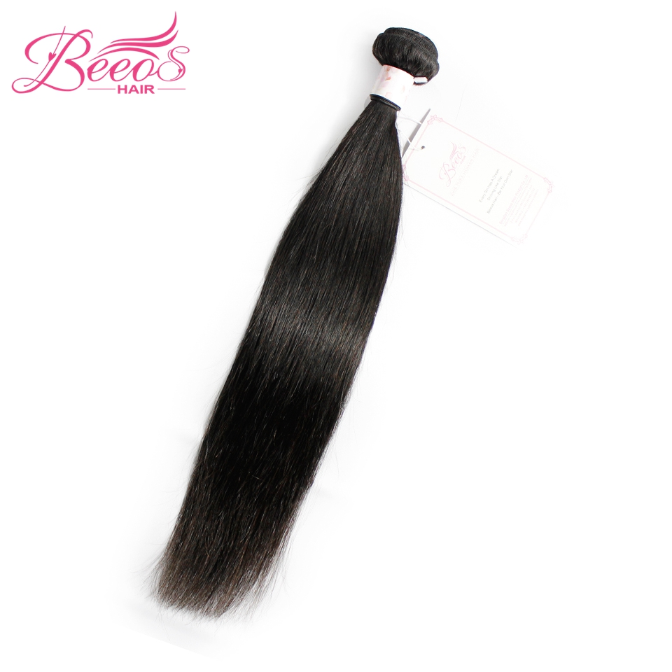 Straight hair perm products - Beeos Brazilian Straight Hair Bundles Natural Color Remy Human Hair Weave 1 Pc Can Be Permed