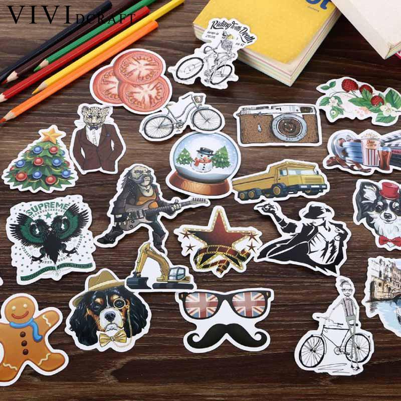 Vividcraft 108 pcs/lot Graffiti Sticker Adhesive Printer Paper School Supplies Post It Nota De Papel Scrapbooking Handmade Label