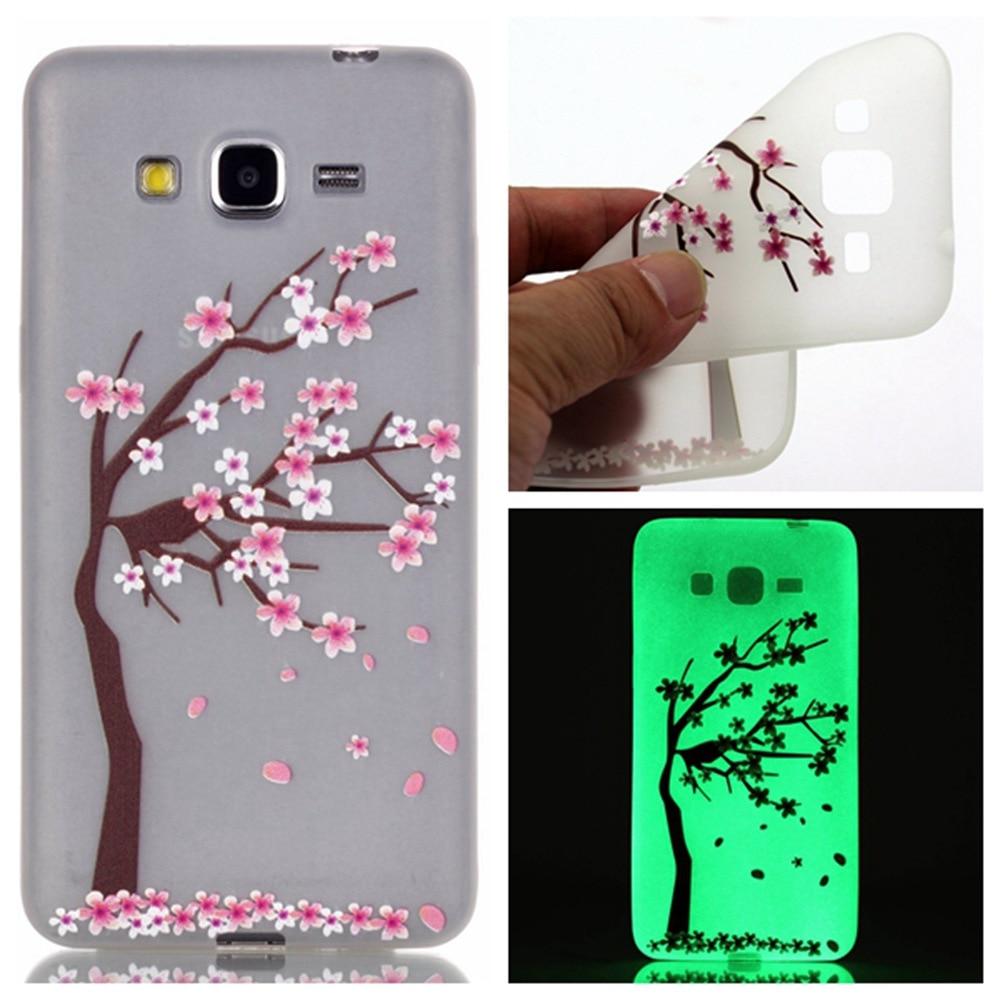 Fashion Luminous Case Slim Fluorescence Soft TPU Cover for Samsung Galaxy Grand Prime G530 G530H Glow in the Dark Silicon Skin