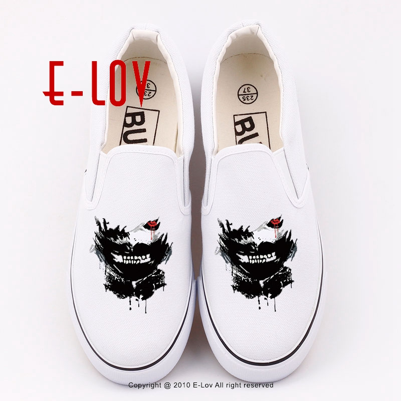 E-lov new printed hot anime cartoon canvas shoes black white flat shoes print casual women canvas shoe gift e lov women casual walking shoes graffiti aries horoscope canvas shoe low top flat oxford shoes for couples lovers