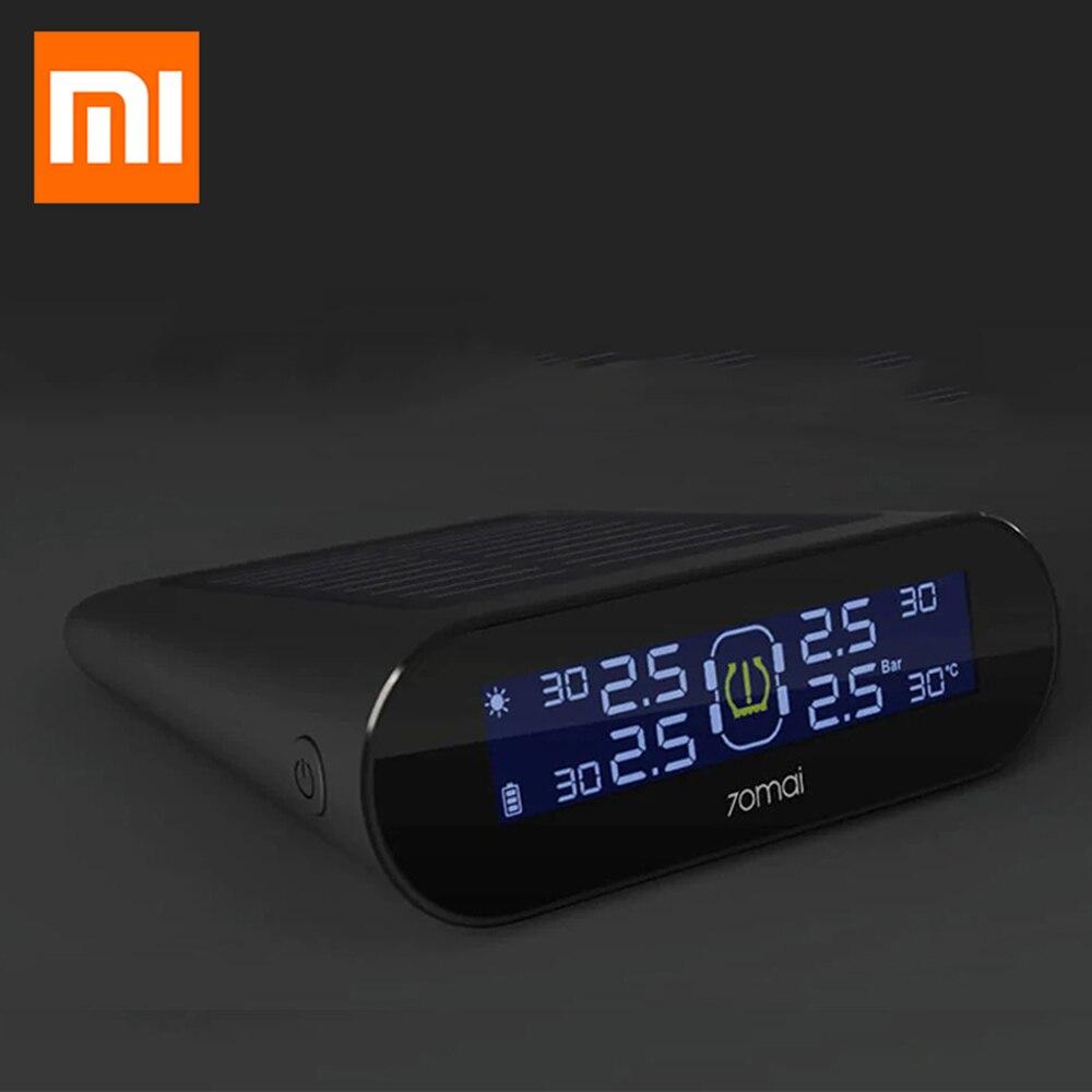 Xiaomi 70mai TPMS da Pressão Dos Pneus Monitor de Testador de Energia Solar Dual USB de Carregamento 4 Embutido Sensores Do Sistema de Alarme com Calibre Carro sens