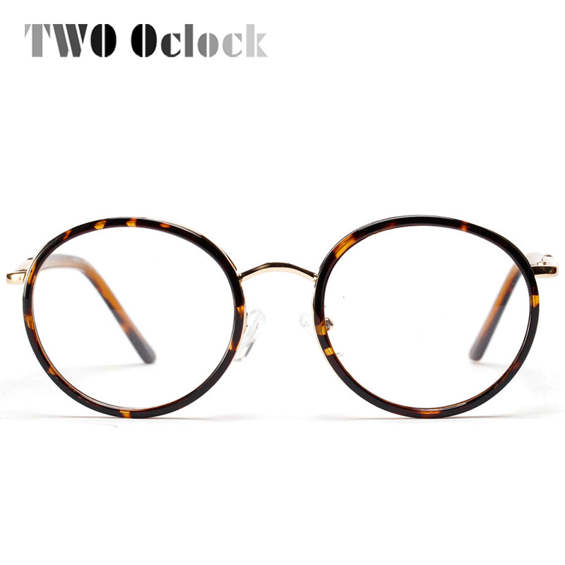 vintage round glasses frames women metal eyeglasses frame with clear lens optical frame mens eyewear oculos femininos gafas 5854 in eyewear frames from