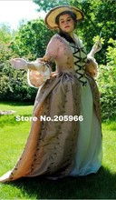 Custom Made Colonial 18th Century Rococo Dress Gown 1700s Marie Antoinette outfit Gown Tea Vintage Dress/Event Dress