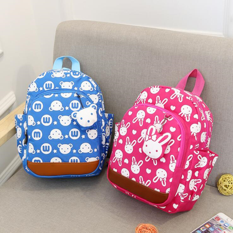 Korean School Bags For Girls 2018 Kids Bag Children Backpacks Cartoon Rabbit Kindergarten Book Bag Schoolbags Mochila Escolar