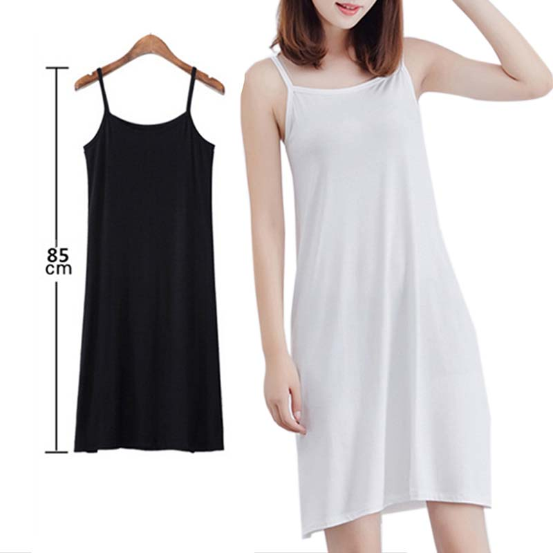 Spaghetti Strap Petticoat Sleeveless Casual Dress Fitted Short Cami Dress Women Plain Bottom Dress