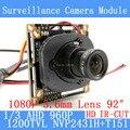 Módulo Da Câmera 960 P 1.3MP AHD CCTV 1200TVL PCB Placa Principal NVP2431H + 2MP T151 3.6mm Lente + IR Cut câmeras de vigilância ODS/cabo BNC
