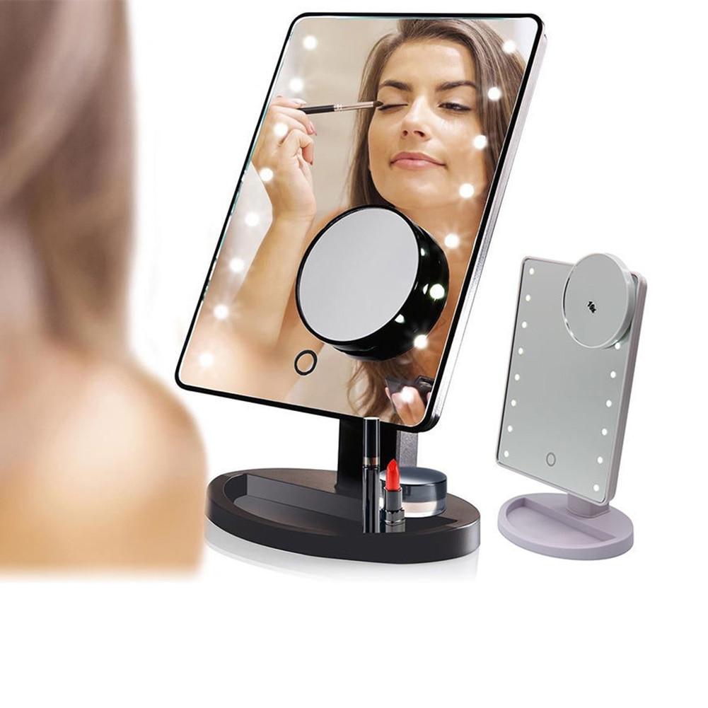 Schönheit & Gesundheit Haut Pflege Werkzeuge Intelligent Einstellbare Helligkeit 16 Lampen/22 Lampen Led Beleuchtet 10x Make-up Spiegel H7jp
