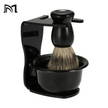 3 In 1 Shaving Soap Bowl Shaving Brush Shaving Stand Bristle Hair Shaving Brush Men Beard Cleaning Tool Badger Brush Gift men shaving brush luxury badger bristles shaving razor brush barber salon facial beard comb cleaning appliance tool metal base