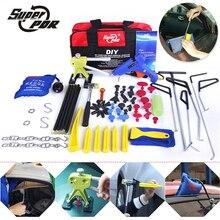 PDR Dent Repair Tools kit Push Rods Hook Tools Paintless Dent Removal tool set dent puller glue gun hammer pump wedge air bag