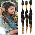 Ombre Brazilian Virgin Hair Loose Wave Cheap Human Hair Extensions Loose Curly Wet and Weave Queen Hair Prdoucts Loose Deep