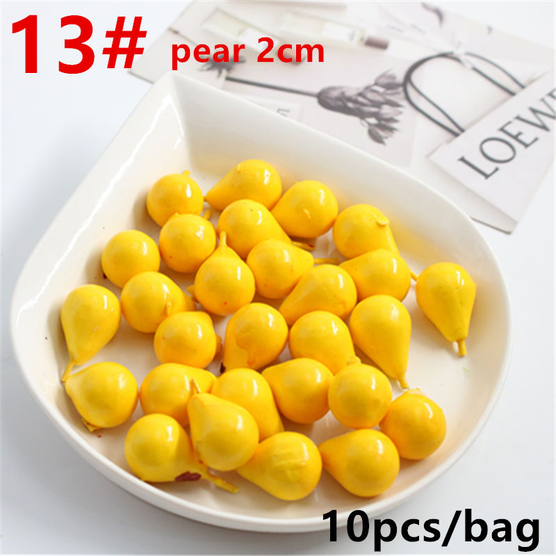 10pcs Artificial Simulation Mini Berry Pears Fruit Wedding Dress Up Dining Table Kitchen DIY Family Christmas Party Decorations10pcs Artificial Simulation Mini Berry Pears Fruit Wedding Dress Up Dining Table Kitchen DIY Family Christmas Party Decorations