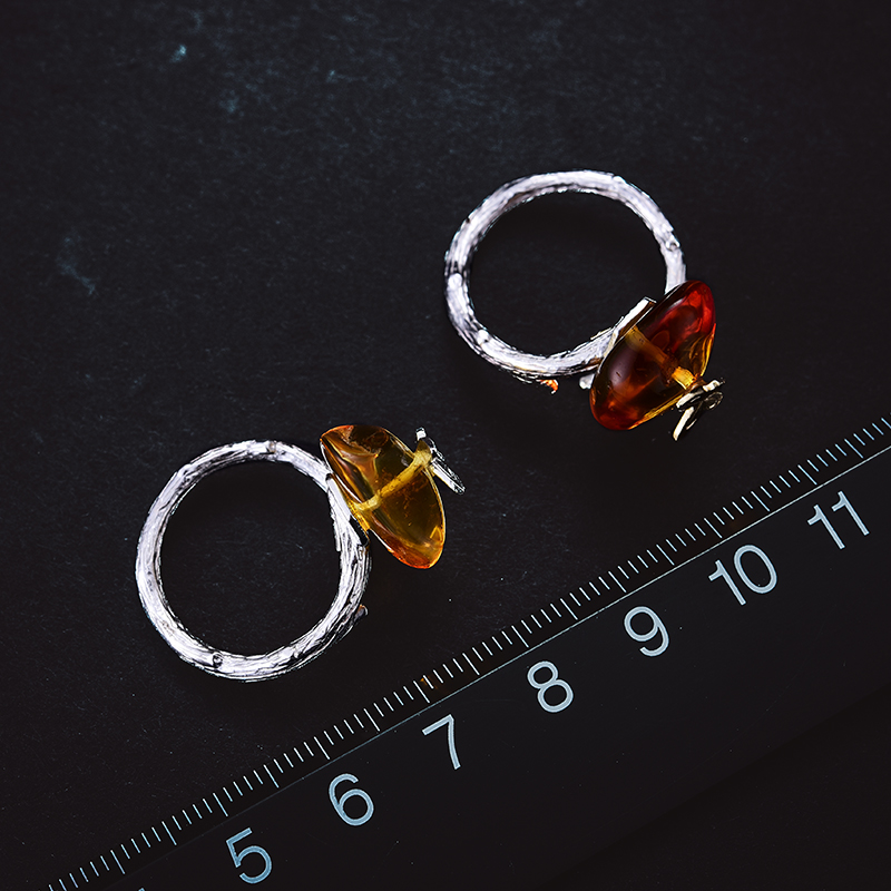 Lotus Fun Moment réel 925 argent Sterling pierre naturelle fait à la main Bijoux de mode à la recherche de retour anneaux papillon pour les femmes Bijoux - 5