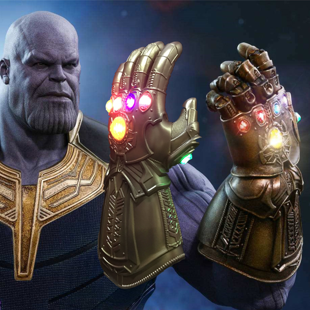 Hot Movie Avengers Infinity War Thanos Infinity Gauntlet Led Luminous Gloves Cosplay Accessories Prop 1 1