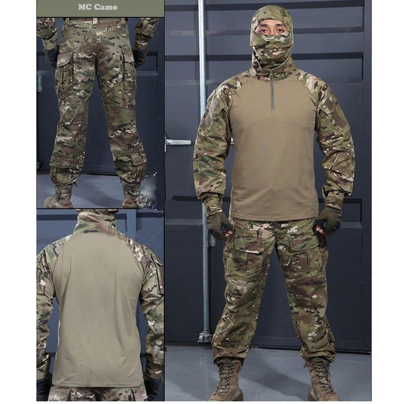6 couleurs! Uniforme militaire tactique chemise + pantalon multicam uniforme Airsoft Paintball SWAT armée formation chasse Police costume