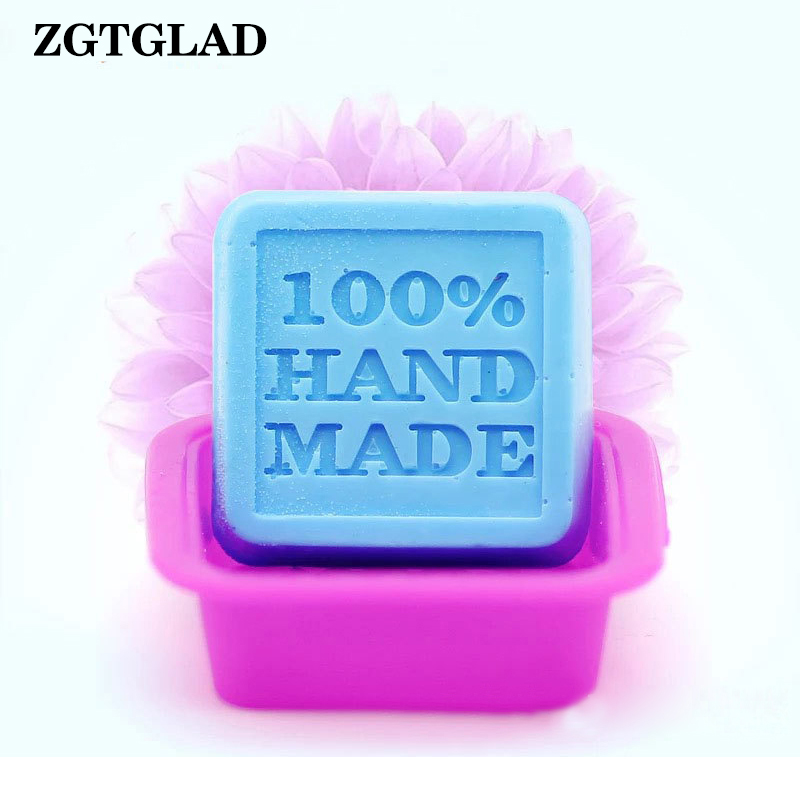 ZGTGLAD Random Color 1pcs 100% Hand Made DIY Silicone Mold Soap Mold Fondant Cake Decorating Tools Home Kitchen DIY Supplies