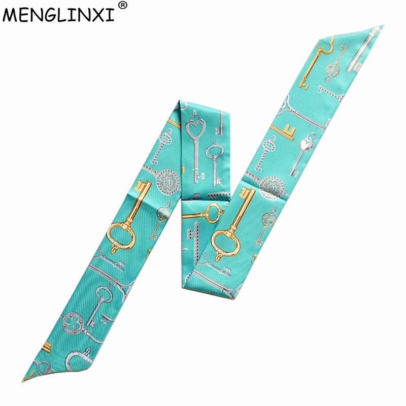2020 New Scarf Women Bag Scarf Luxury Brand Stole Silk Skinny Scarves For Women Multi-function Head Scarf Long Kerchief Wholesal