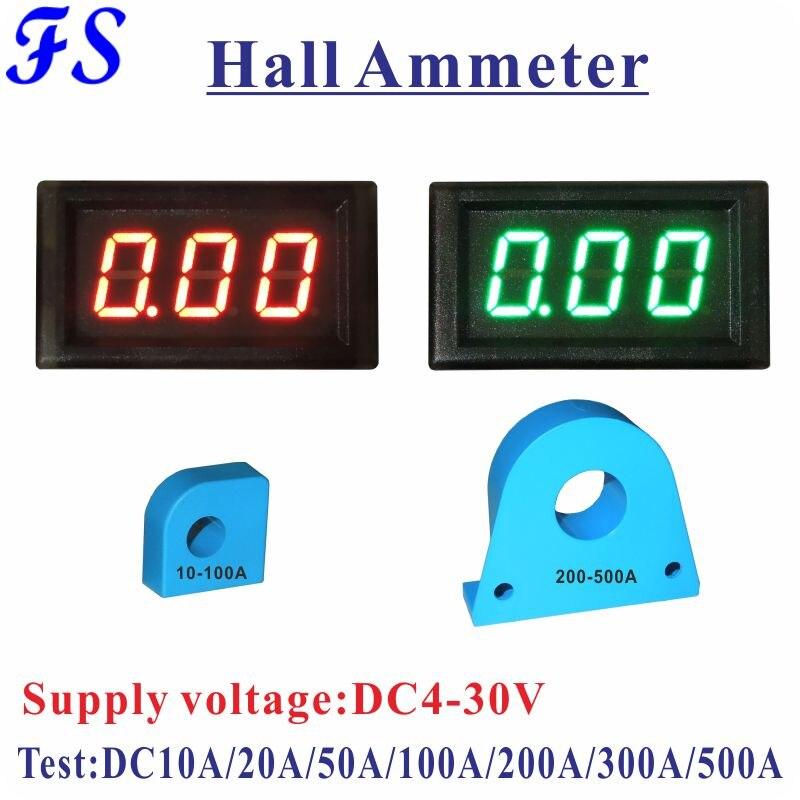 YB28C зал амперметр переменного тока 10A 20A 50A 100A 200A 300A 500A CT светодиодный цифровой амперметр монитор Amp Панель Тестер питания постоянного тока 4-30 ...