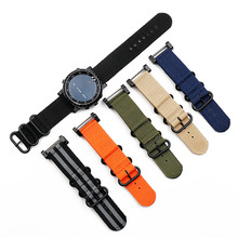 Watch accessories nylon strap pin buckle 24mm for Suunto core outdoor sports waterproof female bracelet men watch band