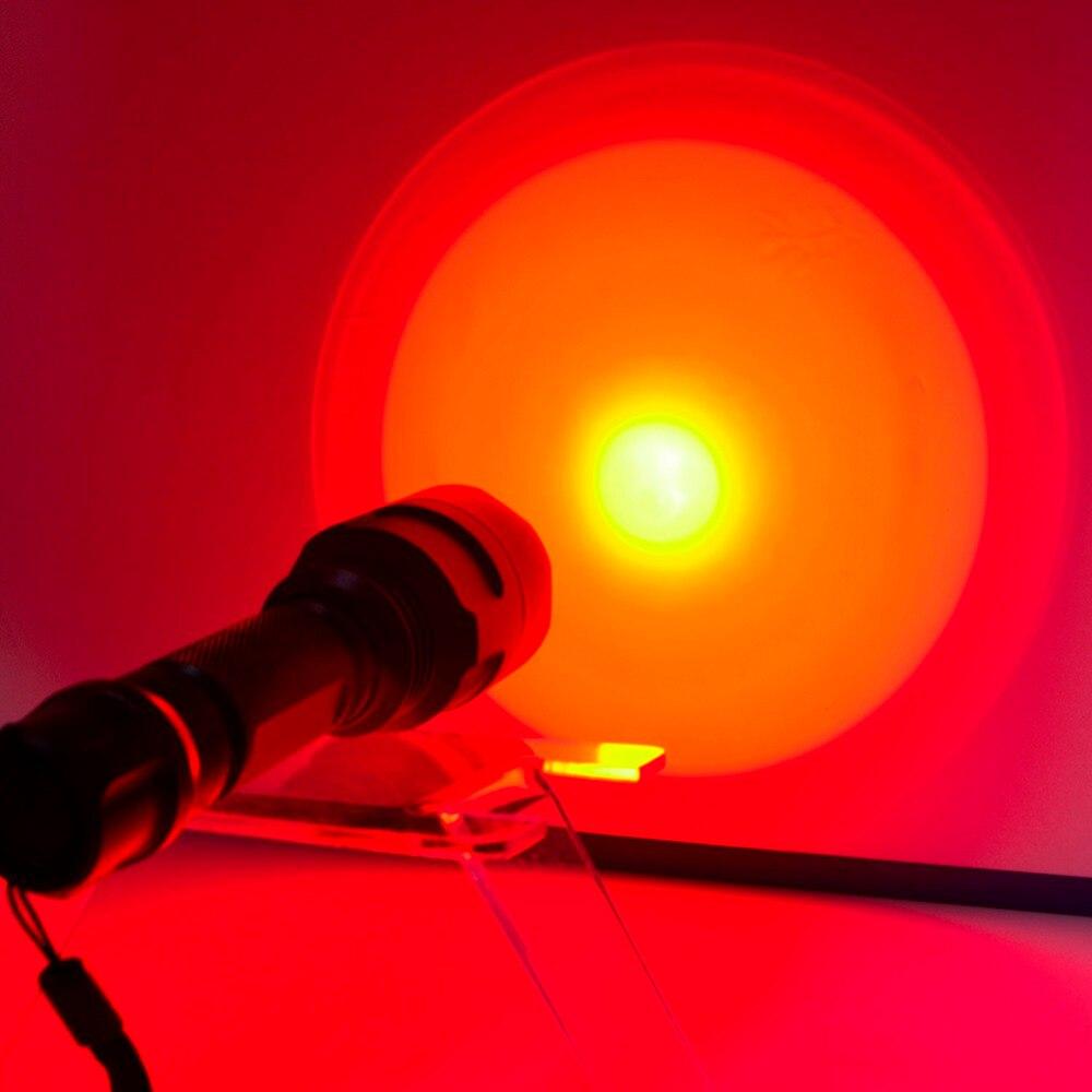 Crazyfire C8 Flashlight 18650 battery camping outdoor strong LED Lamp T6 Lamp Bead Torch Light Power Waterproof Flashlight red