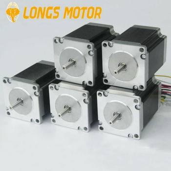 5 pcs Nema23 23HS8430 Stepper Motor 270 oz-in 23HS8430 76mm motor length 3.0A current CNC MILL Router image
