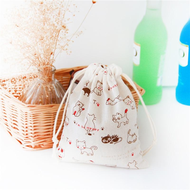3pcs Eco Friendly Bag Travel Bag Cotton Linen Fabric Dust Cloth Bag Clothes Socks/underwear Shoes Kids Toy Storage Bag