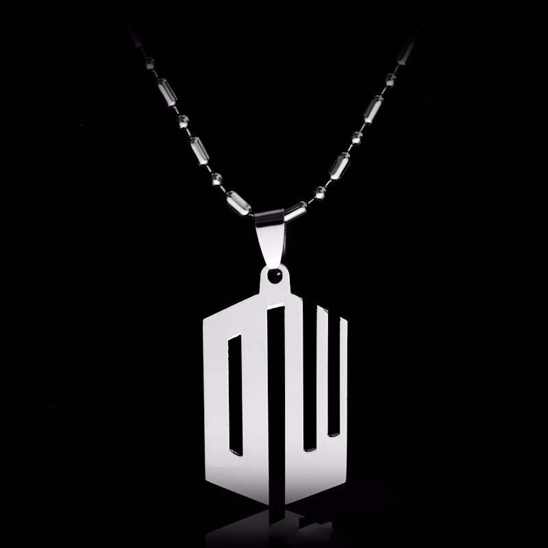 Movie Doctor Who Necklace Hollow-out Silver Stainless Steel Pendant Necklace Bamboo Chain Jewelry Christmas Gift For Men Women