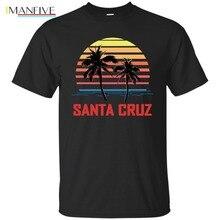 Brand T-Shirt Men 2019 Fashion Black Navy T-Shirt Mens Santa Cruz Vintage Retro T-Shirt 70s Throwback 603 santa navy
