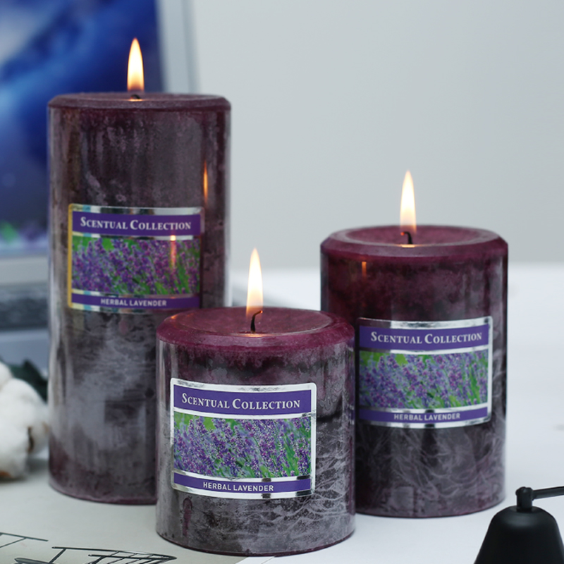 3pcs/set Scented candles of plant essential oils Soy candle Romantic Aromatherapy Home Decoration Pillar candle wedding gift