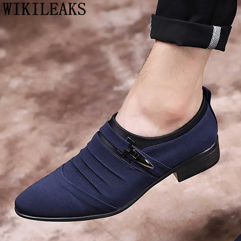 Giày vải người đàn ông ăn mặc giày oxford chính thức người đàn ông giày cưới nam zapatillas vestir hombre zapatos de hombre de vestir giản dị