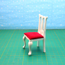 цены G07-X020 children baby gift Toy 1:12 Dollhouse mini Furniture Miniature rement Doll accessories wooden flannel chair D123 1pcs