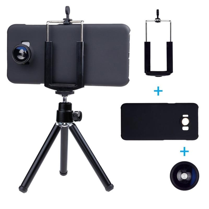 Appareil Photo Kit 12x objectif Zoom + accessoires + Fisheye + 2 in1 objectif Macro & grand Angle + étui pour samsung Galaxy S5 Neo S 6 9 S7 Edge S8 + - 6