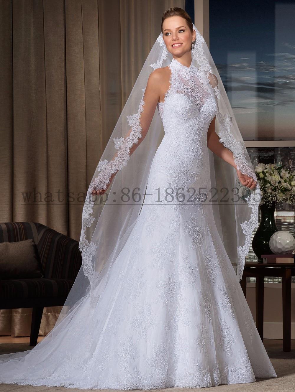 Aliexpress.com : Buy Vestido de noiva Lace Wedding Dress High Neck ...