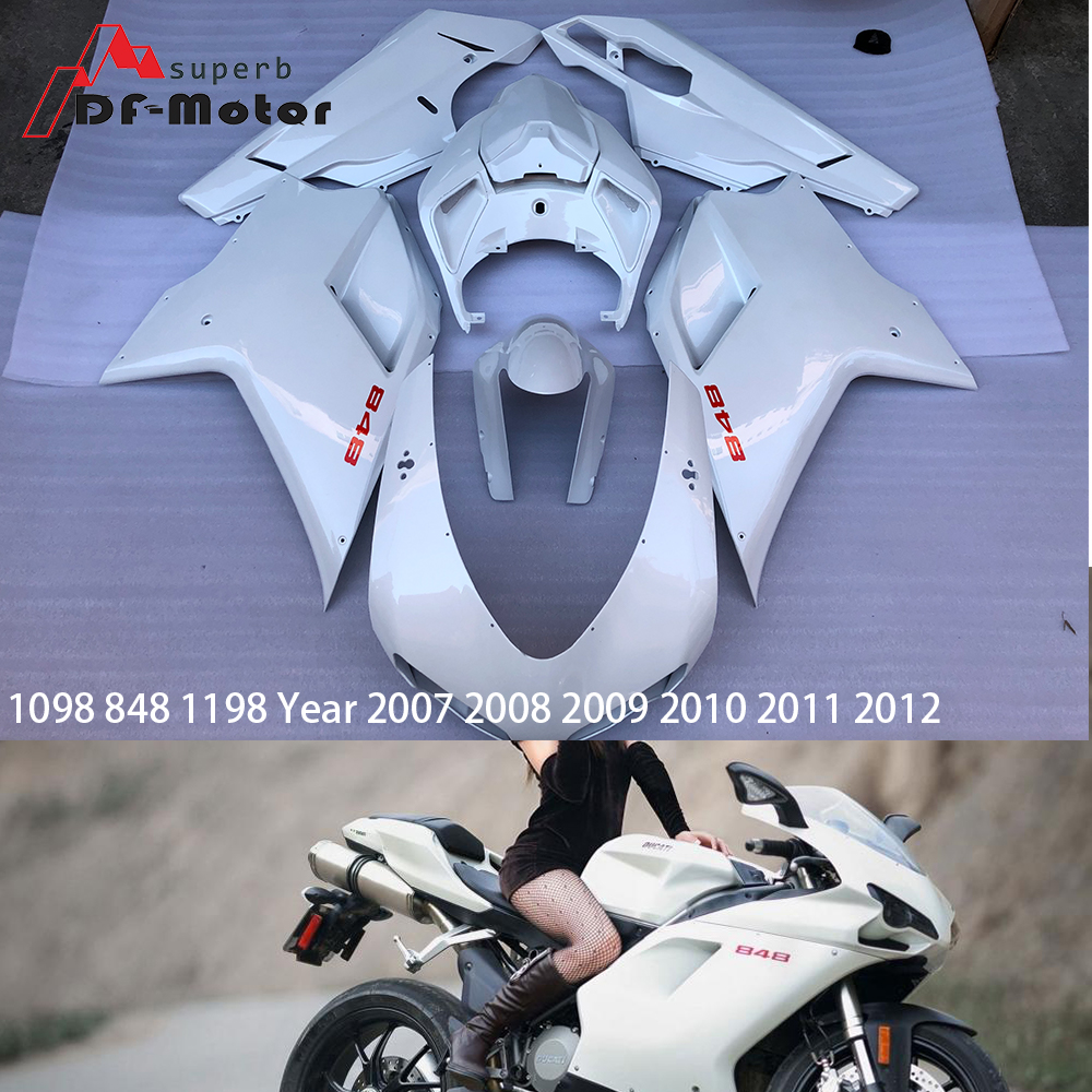 Injection ABS Plastic Fairing Kit For Ducati 1098 848 1198 Year 2007 2008 2009 2010 2011 2012 Motorcycle Cowlings 848Injection ABS Plastic Fairing Kit For Ducati 1098 848 1198 Year 2007 2008 2009 2010 2011 2012 Motorcycle Cowlings 848