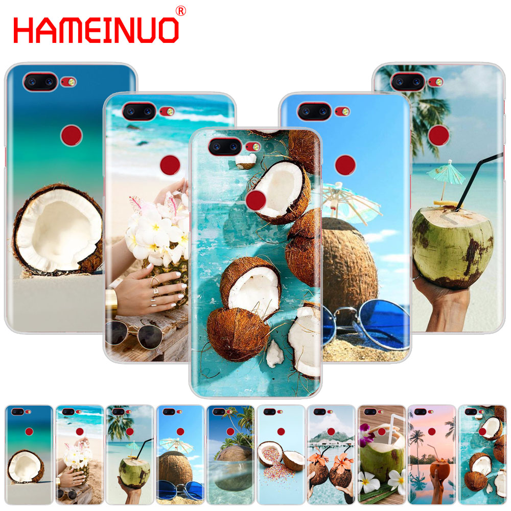 HAMEINUO Coconut on the beach cover phone case for Oneplus one plus 5T 5 3 3t 2 X A3000 A5000
