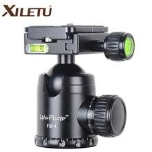 XILETU FB 1 alüminyum profesyonel kamera topu kafa Tripod panoramik kafa yükleme ağırlığı 15kg için ARCA standart Manfrotto