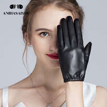 2018 New product Leather gloves High grade ladies leather gloves thin section driving sun protection winter short gloves