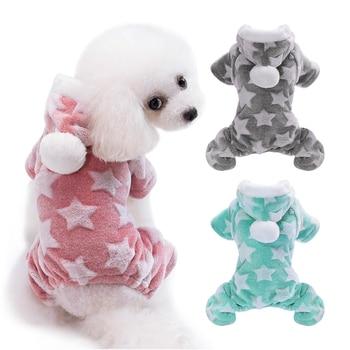 Cute Dog Clothes Jumpsuit Warm Winter Puppy Cat