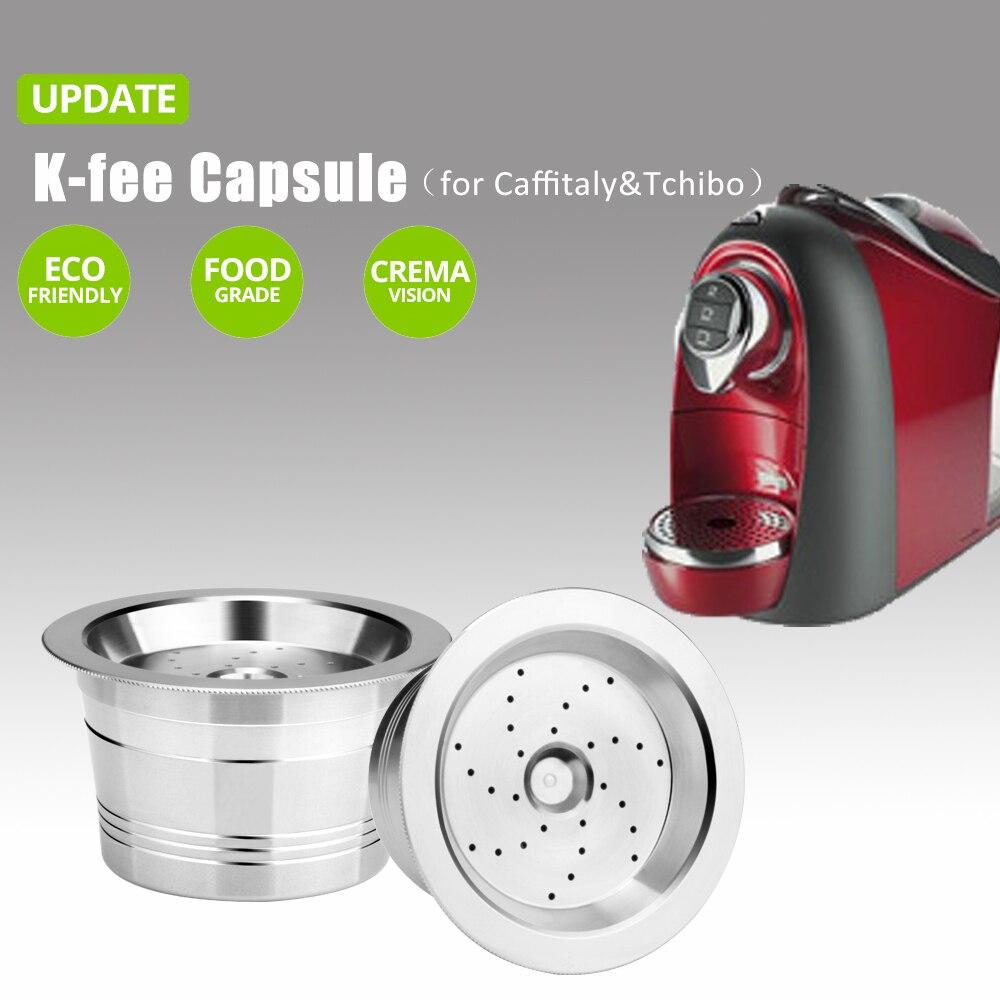 Compatiable k TAXA Minipresso Para Tchibo Cafeteira Máquina de Café Cápsula Reutilizável Cápsula DE AÇO INOXIDÁVEL