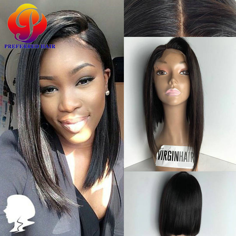 7A Short Cut Lace Front Wigs Bob Style Human Hair Cheap Full Lace Bob Cut  Wigs With Baby Hairline Short Cut Wigs For Black Women-in Human Hair Lace  Wigs ... 7cb169187