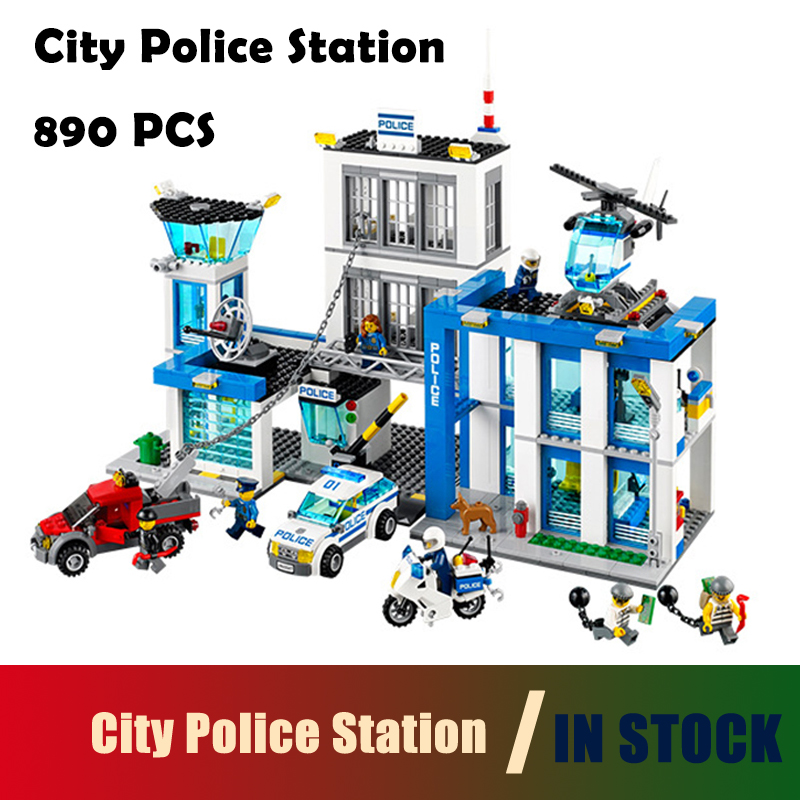 Compatible with lego city 10424 City Police Station motorbike helicopter Model building kits 60047 blocks Educational toys 965pcs city police station model building blocks 02020 assemble bricks children toys movie construction set compatible with lego